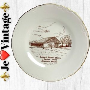 Vintage Plate decorated in canada